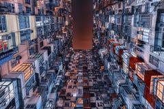 Façade de bâtiment en Hong Kong Images libres de droits