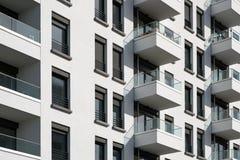 Façade de bâtiment - extérieur d'immobiliers Images stock
