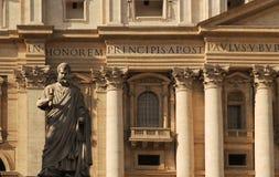 Façade de basilique de rue Peter Image libre de droits
