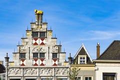 Façade de bibliothèque Dordrecht, Pays-Bas photographie stock