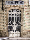 Façade de boutique du ` s d'orfèvre du ` s de Vieira de ` d'Ourivesaria Vieira de ` de bâtiment historique à Aveiro Photographie stock
