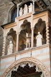 Façade de Cappella Colleoni Photos libres de droits