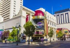 Façade de casino de Harrahs à Reno Images stock