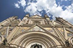 Façade de cathédrale d'Orvieto image stock