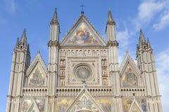 Façade de cathédrale d'Orvieto Images libres de droits