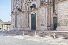Façade de cathédrale d'Orvieto Photographie stock