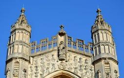 Façade de cathédrale de Bath Image stock