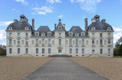 Façade de château de Cheverny - France Photographie stock libre de droits