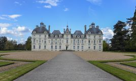 Façade de château de Cheverny - France Photos stock