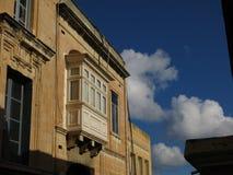 Façade de construction à La Valette Malte images libres de droits
