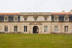 Façade de Corderie Royale dans Rochefort images stock