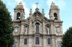 Façade de DOS Congregados, Braga, Portugal d'Igreja Photographie stock