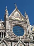 Façade de Duomo de Sienne Images libres de droits