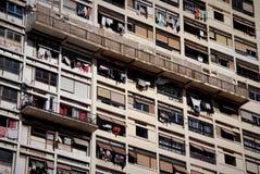 Façade de façade résidentielle de bloc de tour photographie stock libre de droits