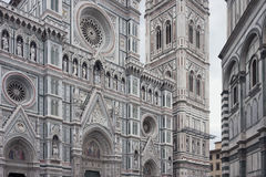 Façade of de Florence Cathedral Stock Image