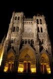Façade de force de cathédrale d'Amiens photo stock