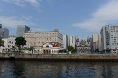 Façade de l'église de Candelária et de banque centrale culturelle du Brésil d'og photo libre de droits
