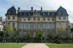 Façade de l'hôtel Salé, secteur de Marais à Paris Image stock