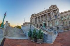 Façade de la Bibliothèque du Congrès Thomas Jefferson Building image libre de droits