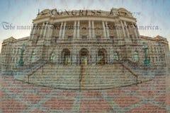 Façade de la Bibliothèque du Congrès Thomas Jefferson Building image stock