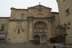 Façade de la cathédrale en Santo Domingo De La Calzada Architecture, voyage, histoire photographie stock libre de droits