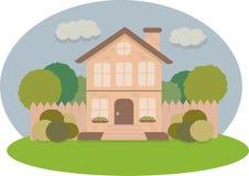 Façade de la maison illustration de vecteur