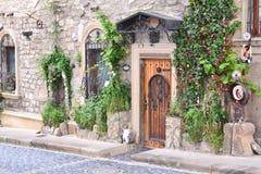 Façade de la maison dans la vieille ville Photos stock