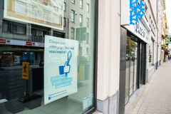 Façade de magasin de la publicité de Facebook d'aliments surgelés de Picard Photographie stock