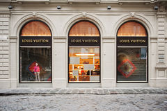 Façade de magasin de Louis Vuitton Photographie stock libre de droits
