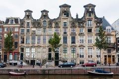 Façade de maison d'Amsterdam Photographie stock