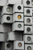 Façade de maison de capsule Photographie stock libre de droits