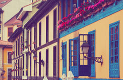 Façade de maison de logement asturienne Photo libre de droits