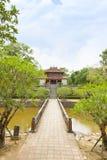 Façade de Minh Lau Pavilion, cour de salutation photos libres de droits