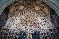 Façade de Munsterkirche, Berne, Suisse images libres de droits