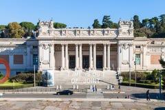 Façade de National Gallery d'art moderne à Rome Photographie stock libre de droits