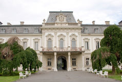 Façade de palais de Festetics, Keszthely, Hongrie Photos stock