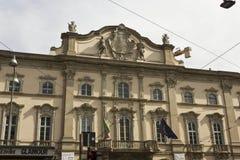 Façade de Palazzo Arese Litta Photographie stock libre de droits