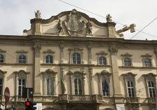 Façade de Palazzo Arese Litta au centre de Milan Photographie stock