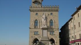 Façade de Palazzo Pubblico au Saint-Marin banque de vidéos