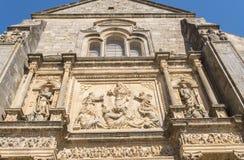 Façade de petit groupe du Salvador de chapelle de sauveur, Ubeda, Jaen, Espagne Image stock