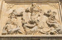 Façade de petit groupe du Salvador de chapelle de sauveur, Ubeda, Jaen, Espagne Photos stock