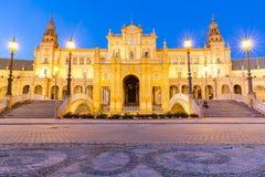 Façade de plaza Séville d'espana Images libres de droits