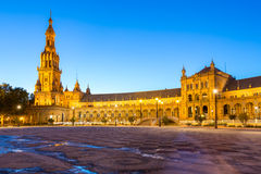 Façade de plaza Séville d'espana Images stock