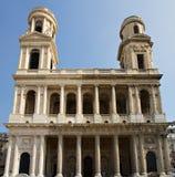 Façade de Saint-Sulpice d'Eglise Photo stock