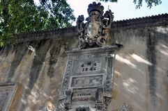 Façade de San Antonio Castle Photographie stock