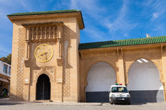 Façade de Sidi Bou Abib Mosque à Tanger, Maroc Image stock