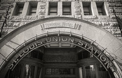 Façade de St Louis Union Station images stock