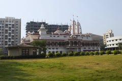 Façade de temple d'ISKCON NVCC, Katraj Kondhwa, Pune, maharashtra photos libres de droits