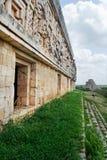 Façade de temple dans Uxmal Image stock
