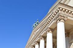 Façade de théâtre de Bolshoi à Moscou Photo stock